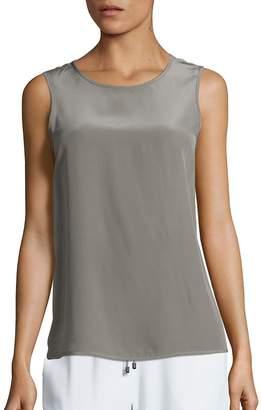 Peserico Women's Silk High-Low Tank Top