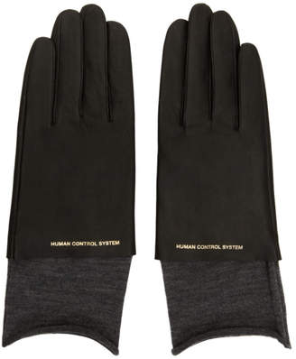 Undercover Black Leather Gloves