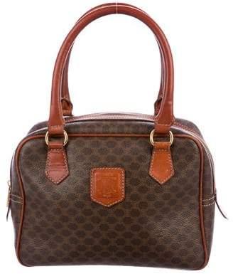 Celine Leather-Trimmed Macadam Bag