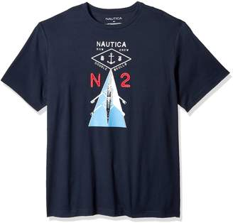 Nautica Men's Big and Tall Short Sleeve Row Crewneck Graphic Tee