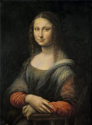 Leonardo Oil Paintings Canvas Prints high quality polyster Canvas ,the High quality Art Decorative Prints on Canvas of oil painting 'Antigua da Vinci (Anonymous Copy) Mona Lisa o La Gioconda First quarter of 16 Century ', 20 x 27 inch / 51 x 69 cm is best for Home Theater decor and Home decor and Gifts
