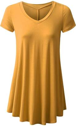YMING Womens Swing Tunic Tops Loose Fit Comfy Flattering T Shirt M