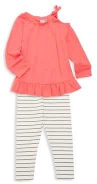 f207b05a2b976 Splendid Baby Girl's Two Piece Drop Shoulder Top & Leggings Set