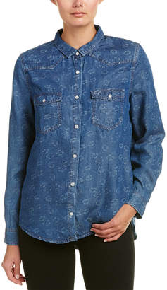 The Kooples Floral Denim Shirt