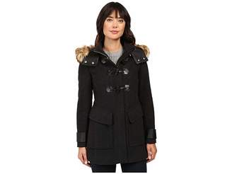 Andrew Marc Paxton 30 Wool Plush Toggle Faux Fur Coat Women's Coat