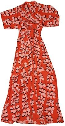 Issa Red Silk Dress for Women