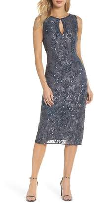 Pisarro Nights Sequin Lace Sheath Dress
