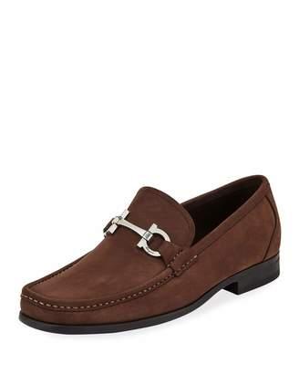 Salvatore Ferragamo Men's Grandioso Slip-On Suede Loafers