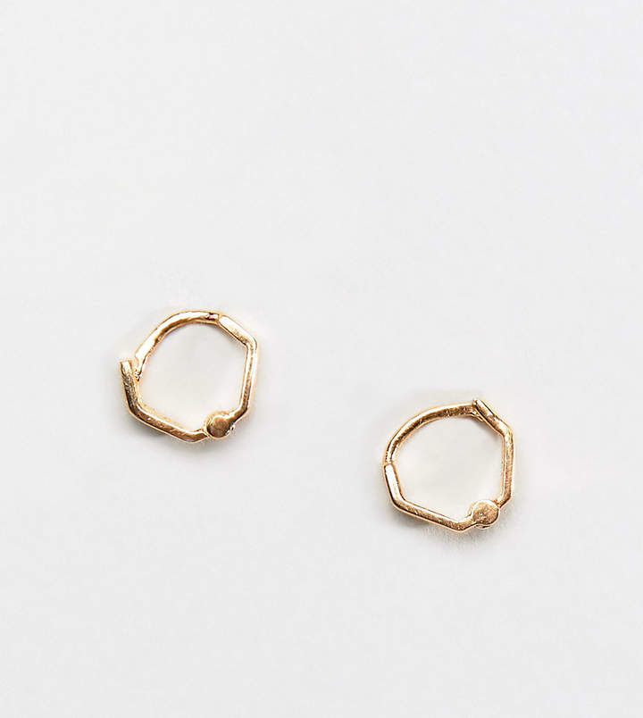 DesignB London DesignB hoop earring in sterling silver with gold plating exclusive to ASOS