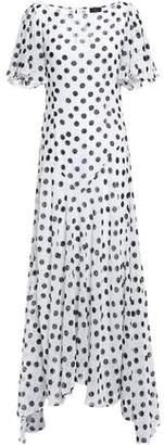 De La Vali Olivia Ruffled Fil Coupe Chiffon Maxi Dress