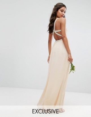 TFNC WEDDING Embellished Maxi Dress with Embellished Strappy Back $113 thestylecure.com
