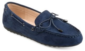 Brinley Co. Womens Comfort-sole Faux Suede Slip-on Loafers