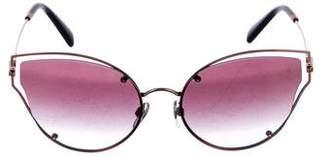 Valentino 2018 Rockstud Cat-Eye Sunglasses w/ Tags
