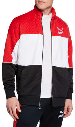 Puma Men's Retro Tricolor Quilted Jacket
