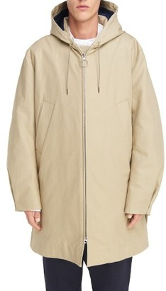 Men's Acne Studios Melt Long Hooded Zip Front Coat $850 thestylecure.com