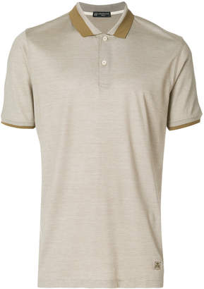 Corneliani logo polo shirt
