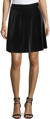 MICHAEL Michael Kors Velvet Skater Skirt