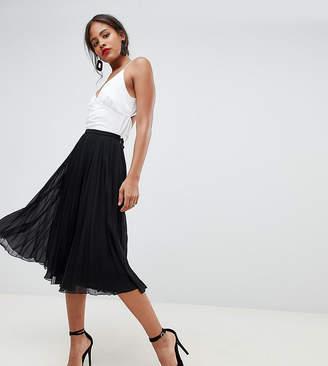 74e1270372 Asos Tall DESIGN Tall pleated midi skirt
