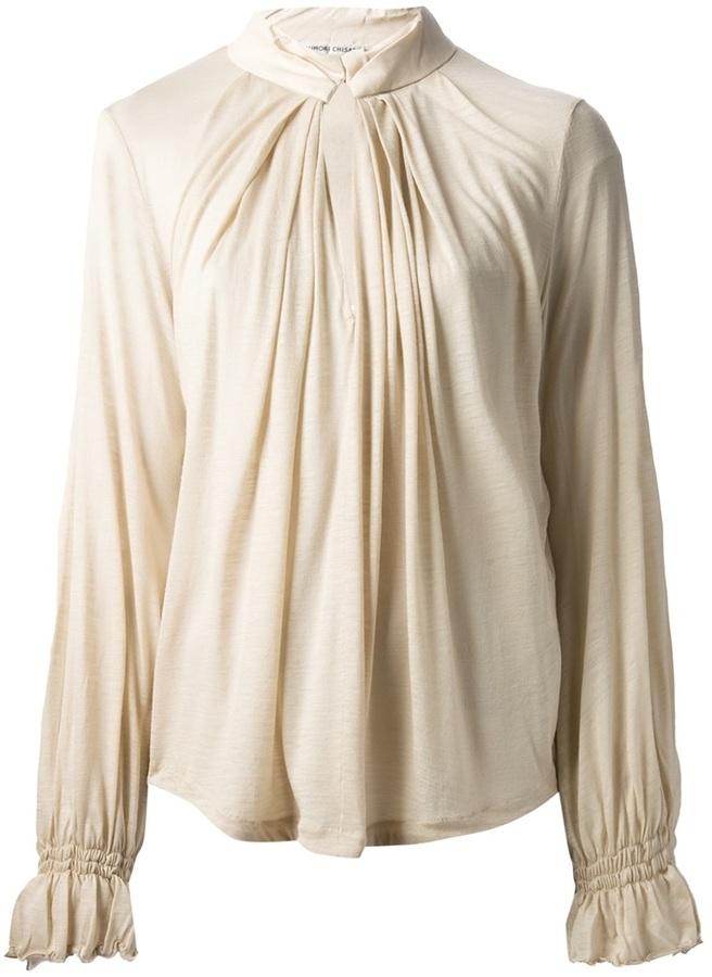 Tsumori Chisato soft wool jersey blouse