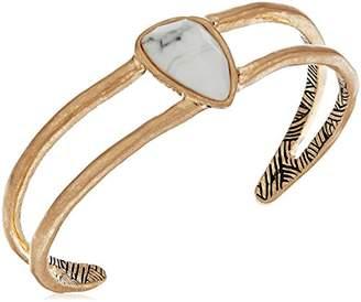 The Sak Single Stone White Gold Cuff Bracelet