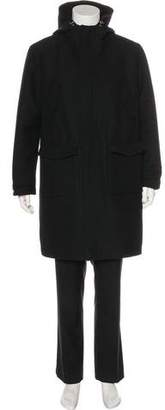 Moncler Virgin Wool Down Coat