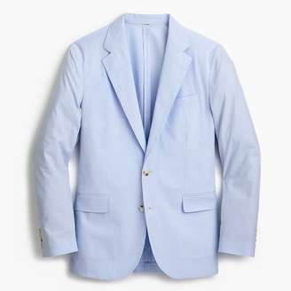 J.Crew Ludlow Slim-fit unstructured suit jacket in blue seersucker