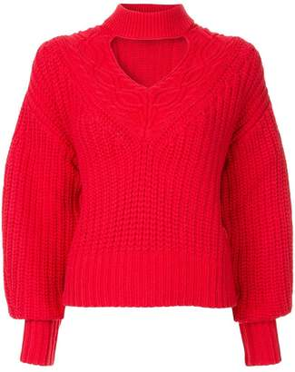Self-Portrait knitted choker jumper