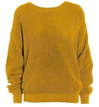 REAL LIFE FASHION LTD. Oversized Baggy Long Sleeves Thick Knitted Jumper Ladies Plain Winter Sweater#( Oversized Thick Baggy Knitted Jumper##Womens)