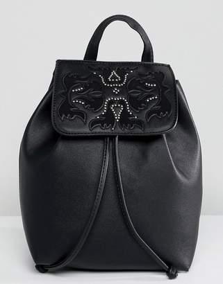 Bershka Western Detail Backpack With Drawstring