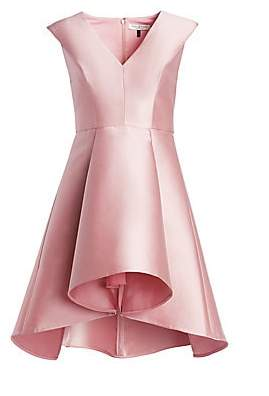 Halston Women's Structured Satin Flare Dress