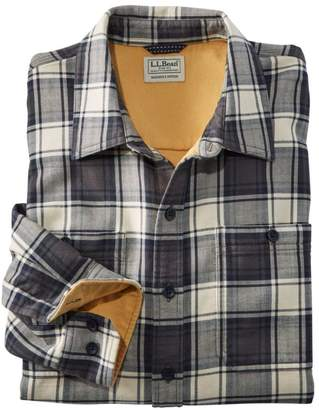 L.L. Bean L.L.Bean Wicked Warm Shirt, Long Sleeve, Slightly Fitted Plaid