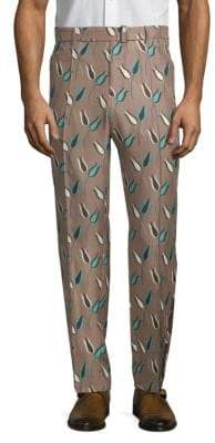 Valentino Printed Silk Pants