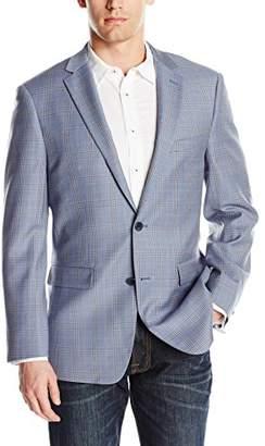 Vince Camuto Men's Two Button Modern Fit Glen Plaid Blazer