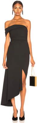 Oscar de la Renta Off Shoulder Asymmetric Hem Dress