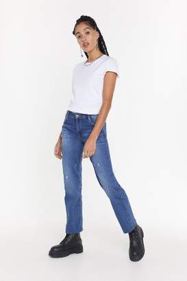 Nasty Gal Up to Scratch Straight-Leg Distressed Jeans
