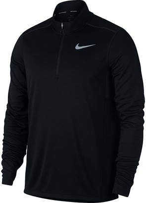 Nike Mens Round Neck Long Sleeve Quarter-Zip Pullover