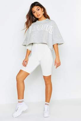 boohoo Slogan Batwing T-Shirt
