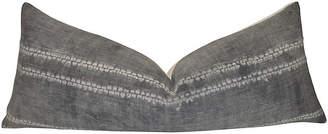 One Kings Lane Vintage Gray Tribal & French Linen Body Pillow