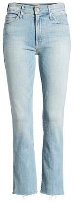 Mother The Rascal Ankle Snippet Straight Leg Jeans