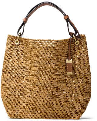 MICHAEL Michael KorsMichael Kors Santorini Large Raffia Shoulder Bag