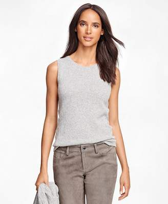 Cashmere Sleeveless Shell $198 thestylecure.com