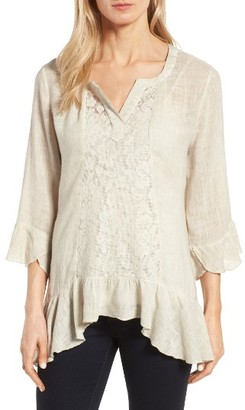 Women's Kut From The Kloth Asymmetrical Ruffle Top $88 thestylecure.com