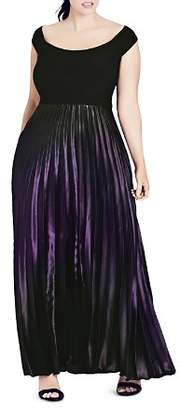 City Chic Plus Passion Ombré Maxi Dress