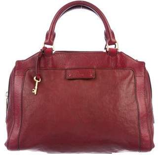 Fossil Smooth Leather Satchel