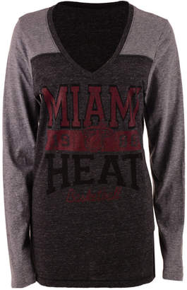 5th & Ocean Women's Miami Heat Dunk Long-Sleeve T-Shirt