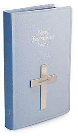 NEW Whitehill Bible New Testament Sterling Silver Blue