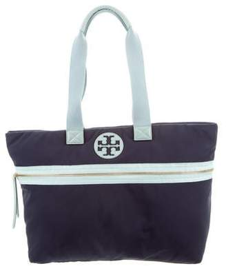 Tory Burch Leather-Trimmed Nylon Tote