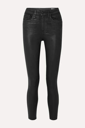 Rag & Bone Nina Coated High-rise Skinny Jeans - Black