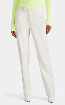 Helmut Lang Women's Leather Straight Pants - White