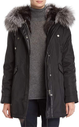 Nicole Benisti Belleville Reversible Fox-Fur Parka Jacket